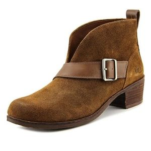 UGG Wright Belted Suede Bootie